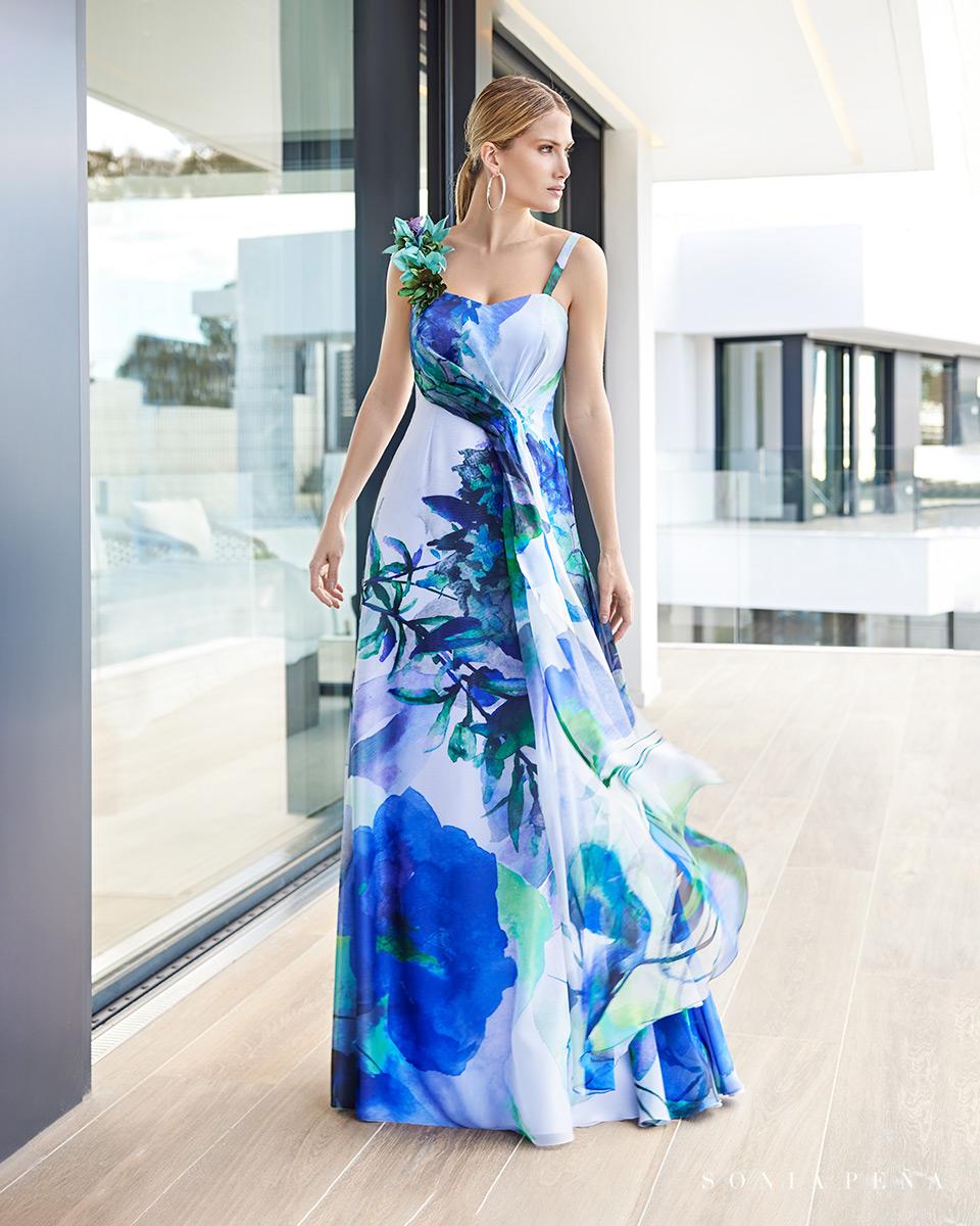 Vestito lungo. Primavera Estate 2021 Collezione Summer Time. Sonia Peña - Ref. 1210108