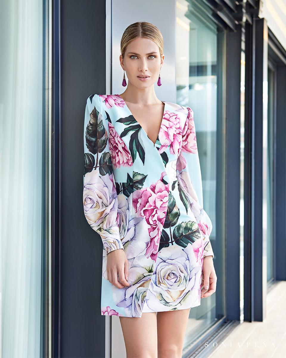 Vestito corto. Primavera Estate 2021 Collezione Summer Time. Sonia Peña - Ref. 1210112