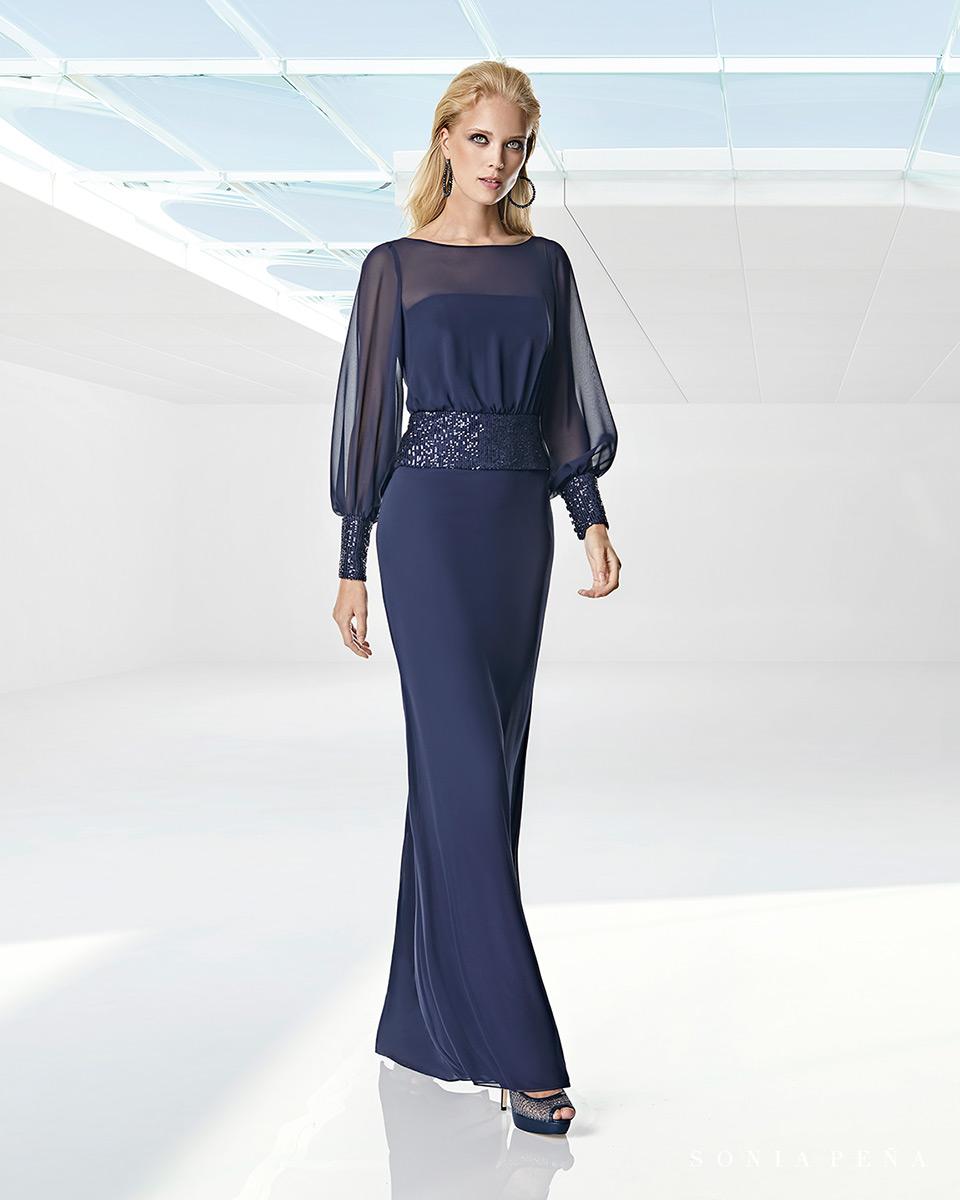 Vestito lungo. Primavera Estate 2020 Collezione Trece Lunas. Sonia Peña - Ref. 1200001