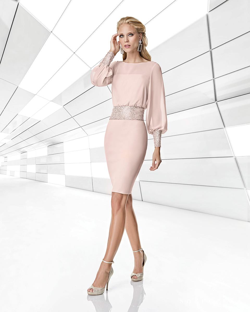 Vestito corto. Primavera Estate 2020 Collezione Trece Lunas. Sonia Peña - Ref. 1200001A