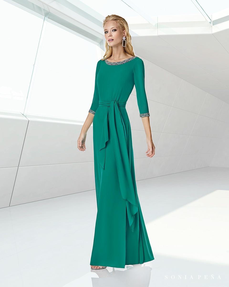 Vestito lungo. Primavera Estate 2020 Collezione Trece Lunas. Sonia Peña - Ref. 1200013