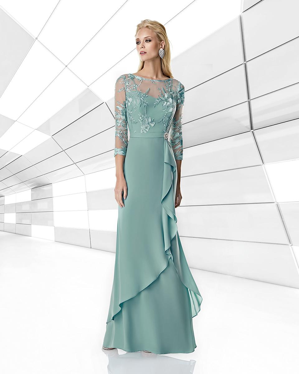 Vestito lungo. Primavera Estate 2020 Collezione Trece Lunas. Sonia Peña - Ref. 1200017