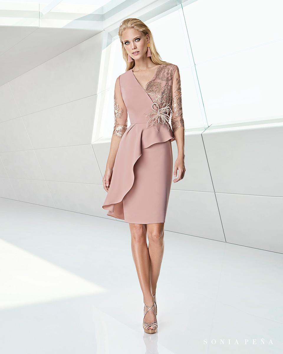 Vestito corto. Primavera Estate 2020 Collezione Trece Lunas. Sonia Peña - Ref. 1200023A