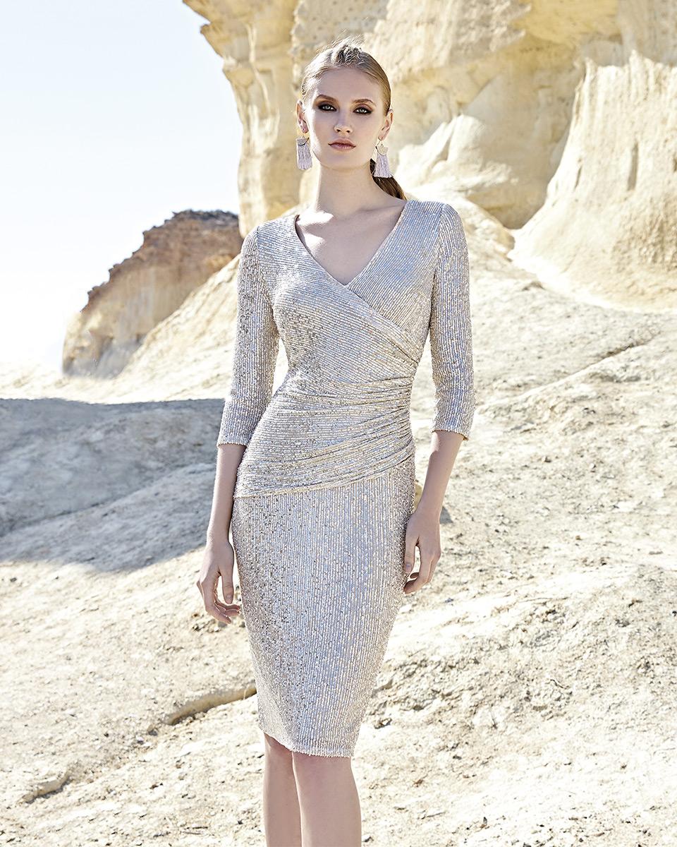 Vestito corto. Primavera Estate 2020 Collezione Trece Lunas. Sonia Peña - Ref. 1200026