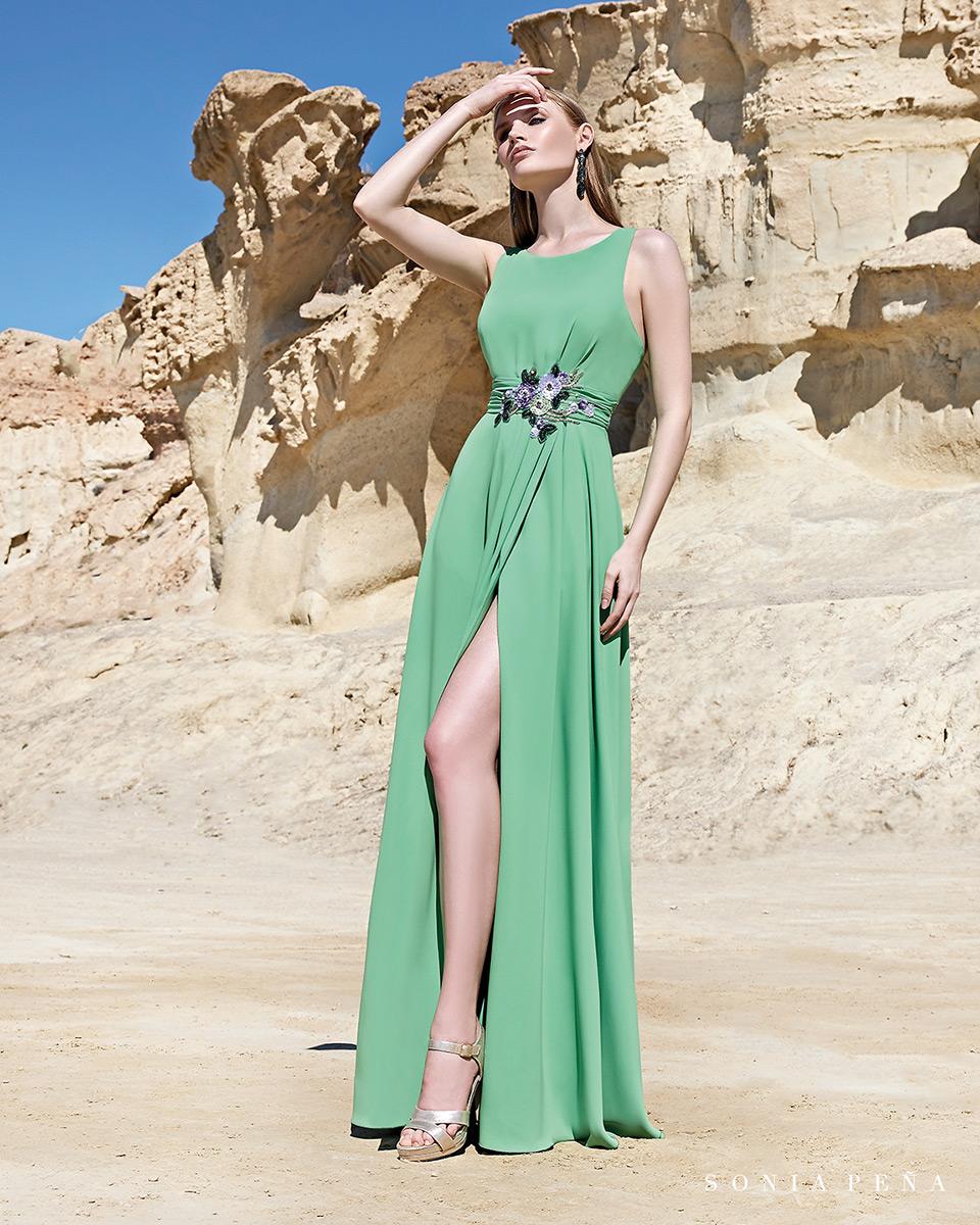 Vestito lungo. Primavera Estate 2020 Collezione Trece Lunas. Sonia Peña - Ref. 1200107
