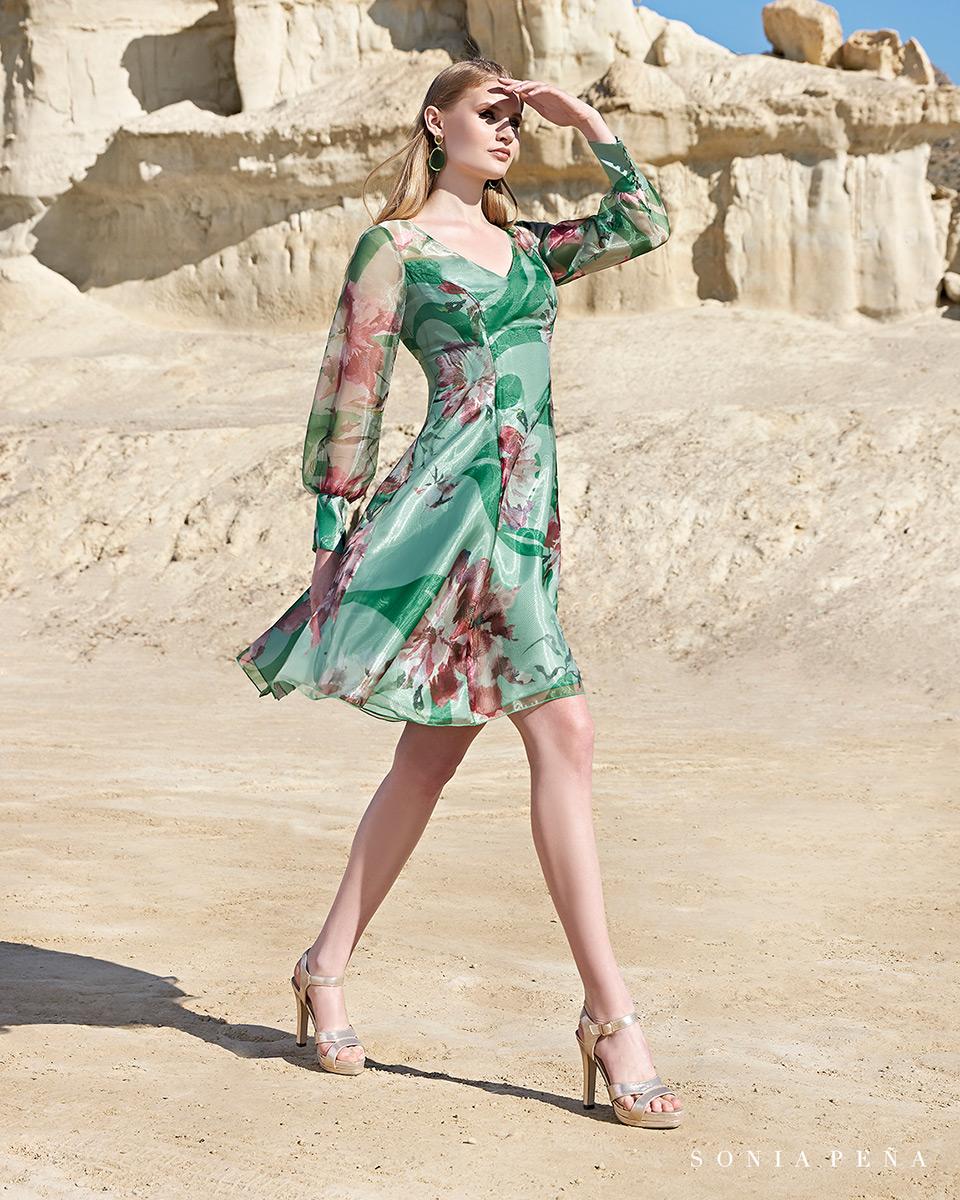 Vestito corto. Primavera Estate 2020 Collezione Trece Lunas. Sonia Peña - Ref. 1200109