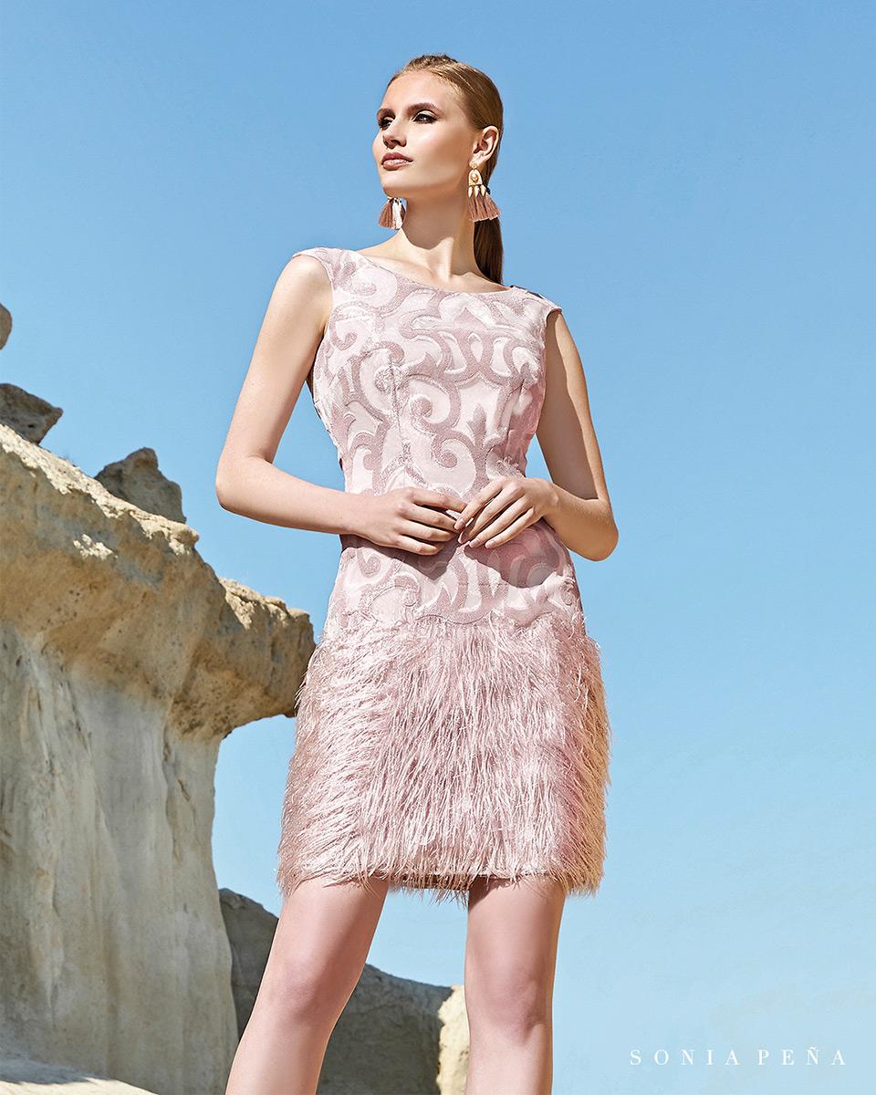Vestito corto. Primavera Estate 2020 Collezione Trece Lunas. Sonia Peña - Ref. 1200110