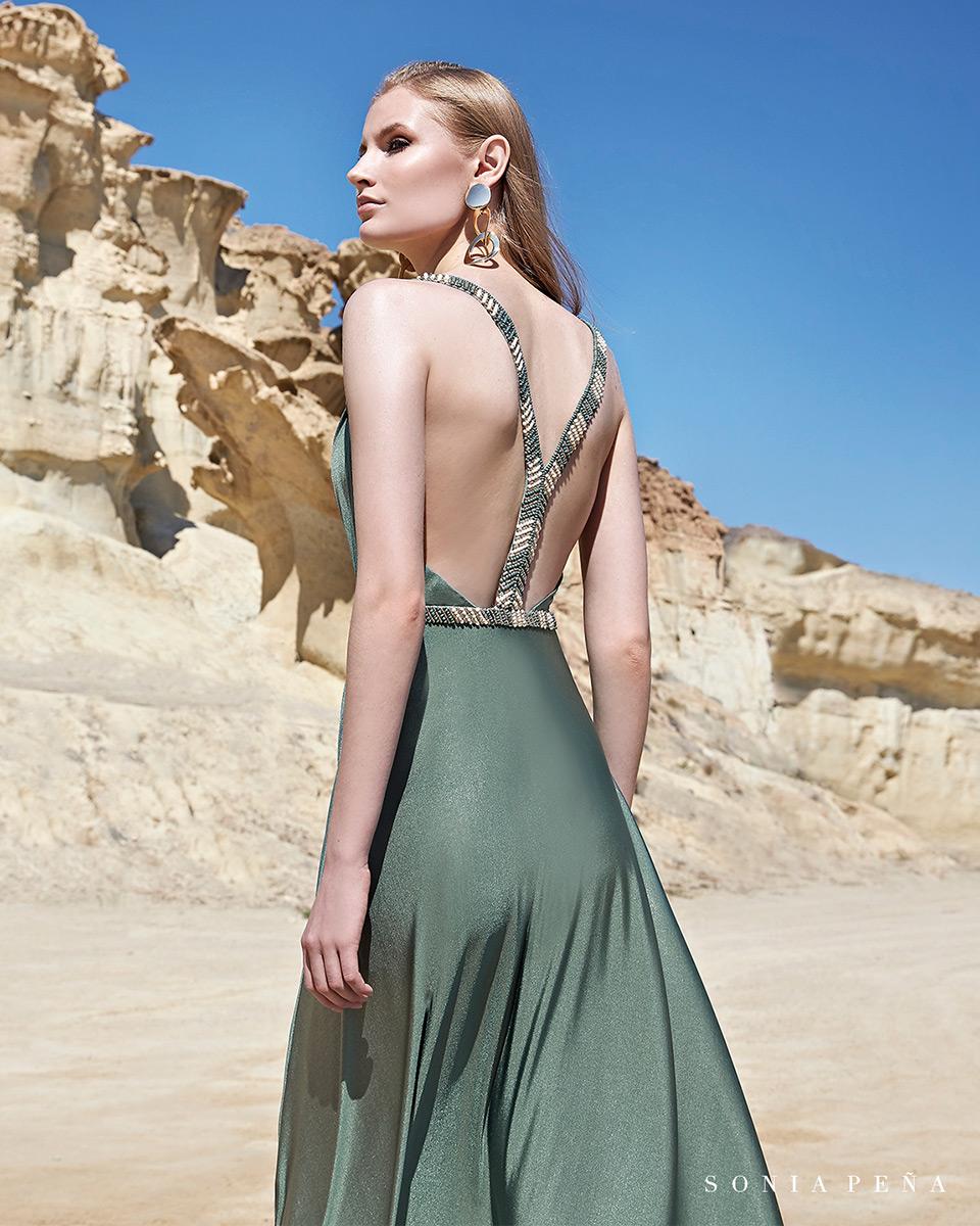 Vestito lungo. Primavera Estate 2020 Collezione Trece Lunas. Sonia Peña - Ref. 1200111