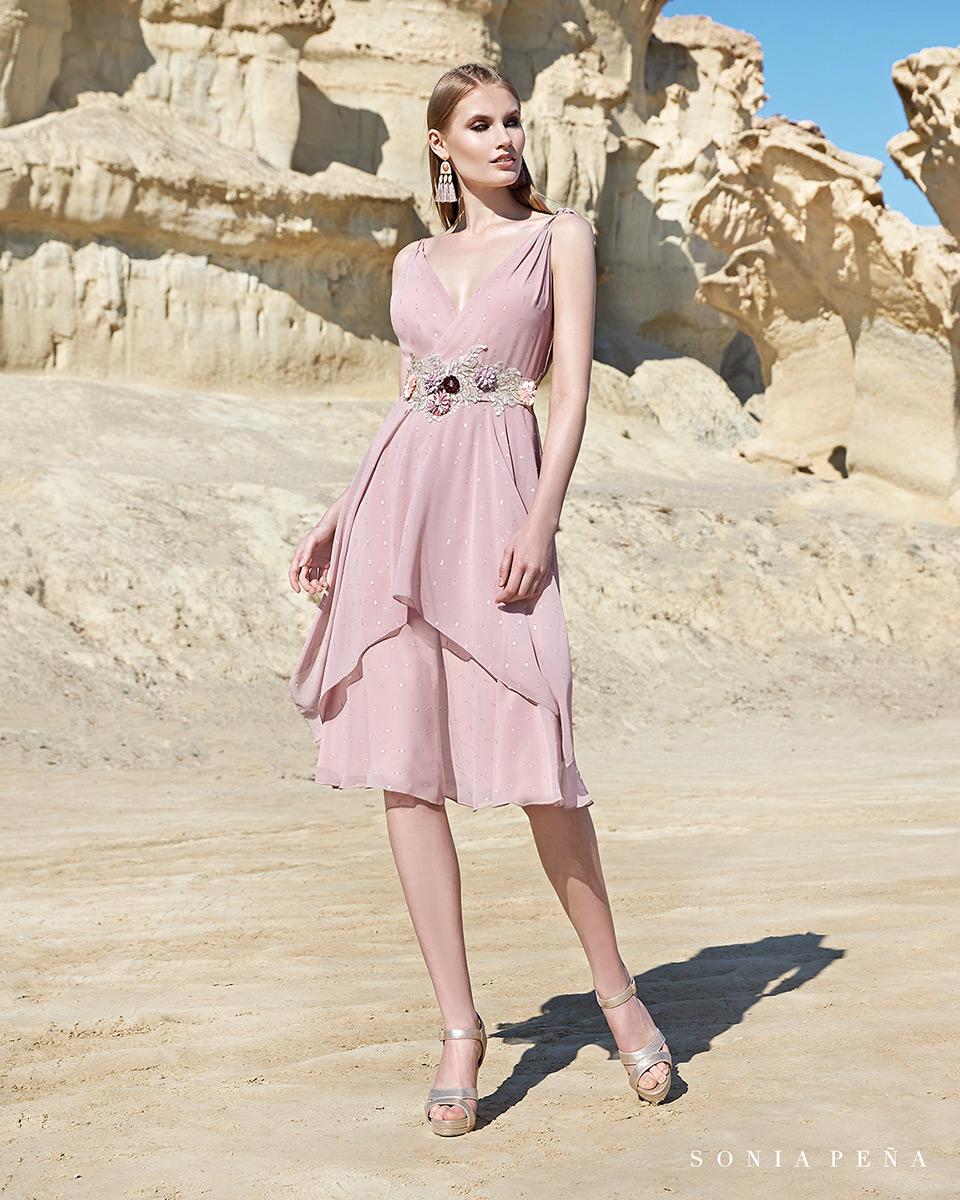 Vestito corto. Primavera Estate 2020 Collezione Trece Lunas. Sonia Peña - Ref. 1200115