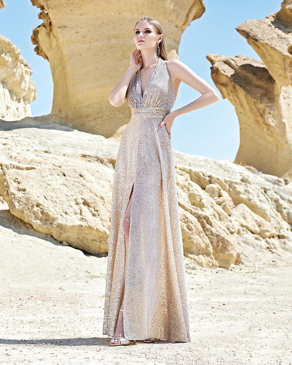 Vestito lungo. Primavera Estate 2020 Collezione Trece Lunas. Sonia Peña - Ref. 1200117