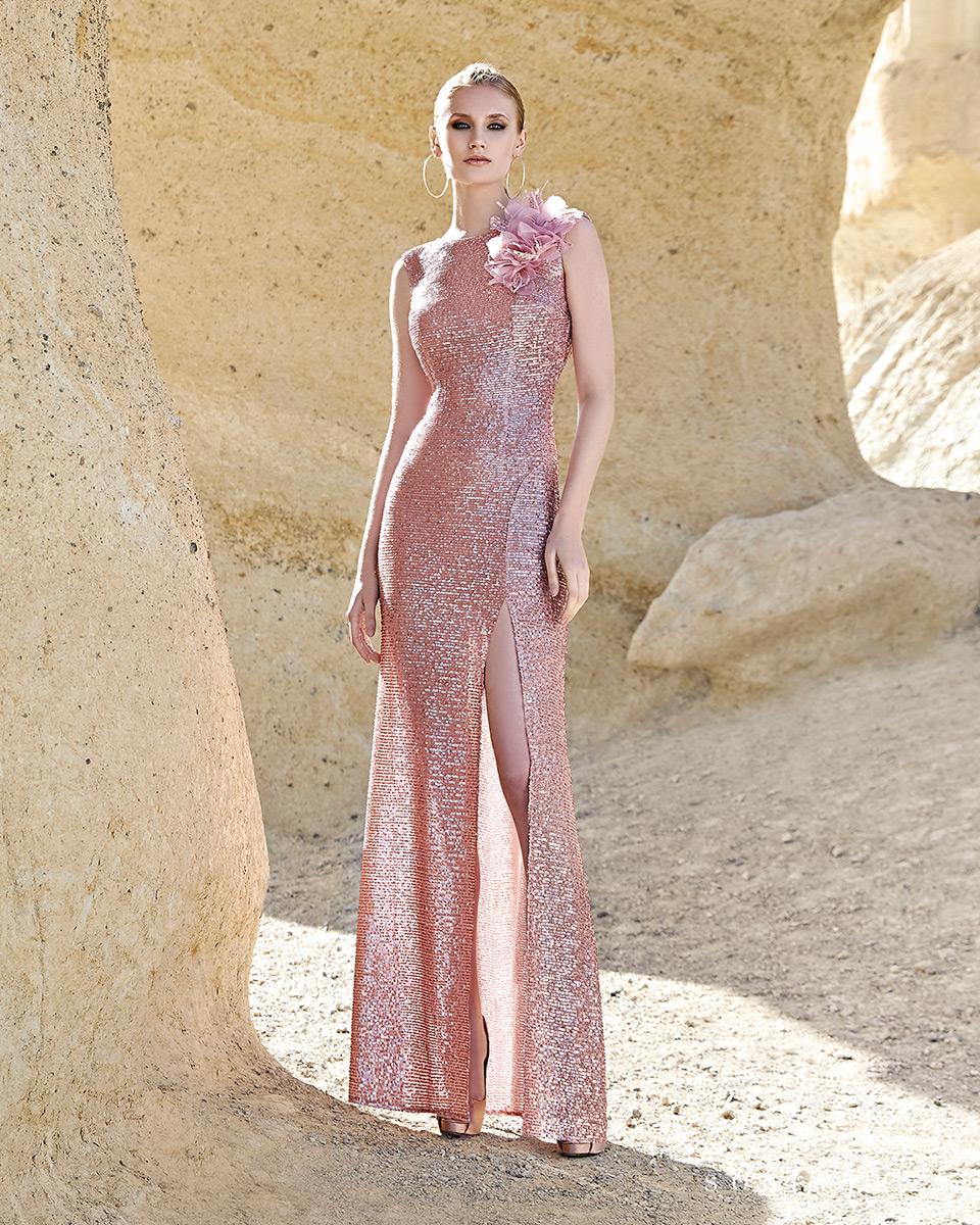 Vestito lungo. Primavera Estate 2020 Collezione Trece Lunas. Sonia Peña - Ref. 1200124