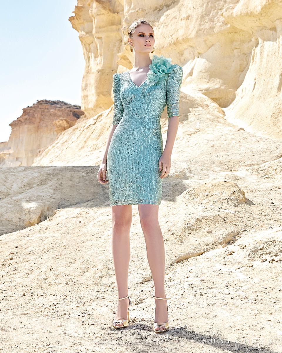 Vestito corto. Primavera Estate 2020 Collezione Trece Lunas. Sonia Peña - Ref. 1200125