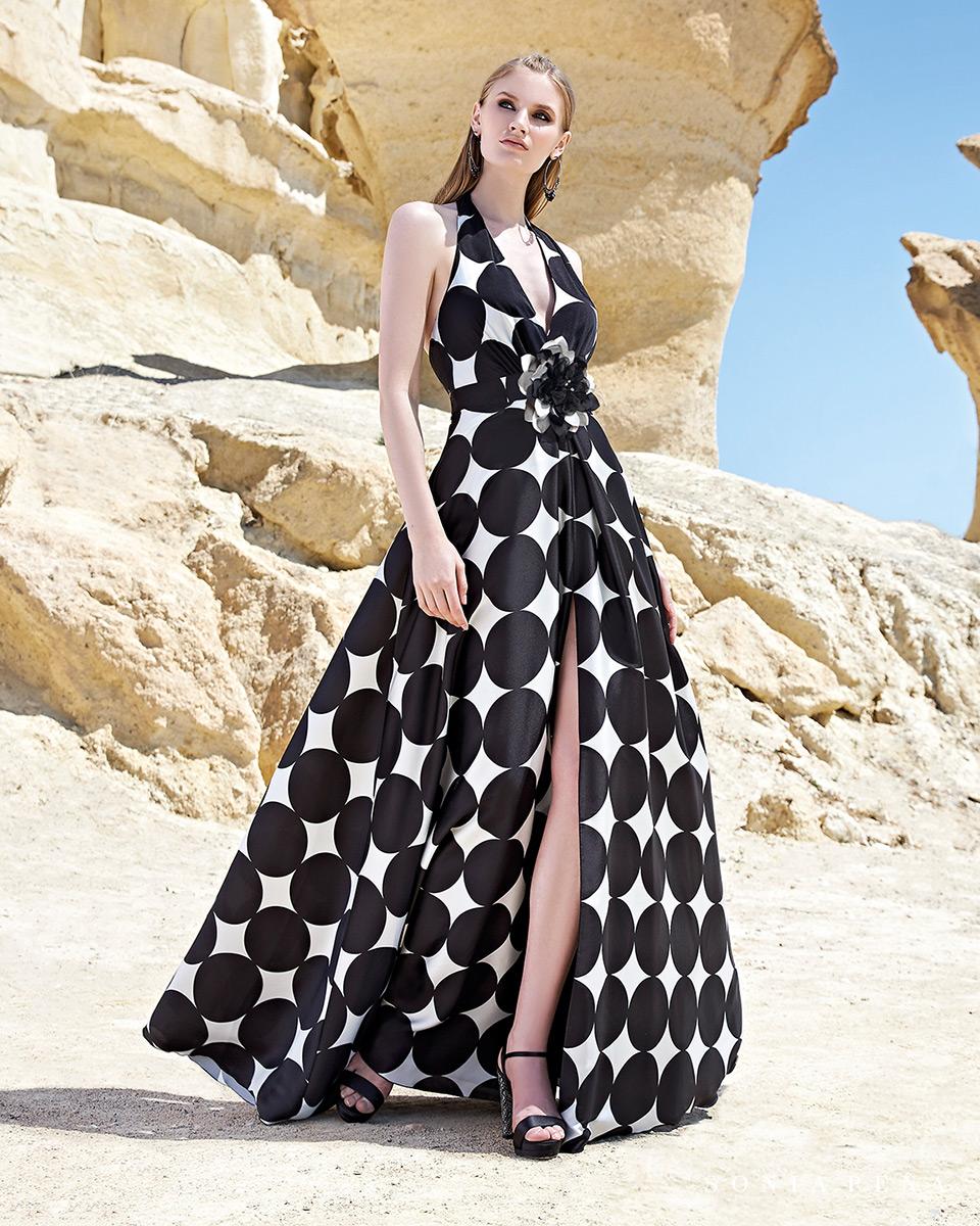 Vestito lungo. Primavera Estate 2020 Collezione Trece Lunas. Sonia Peña - Ref. 1200127