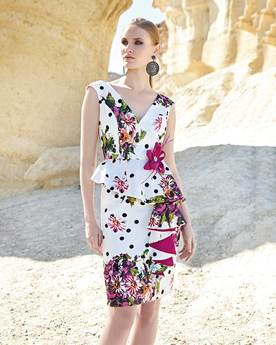 Vestito corto. Primavera Estate 2020 Collezione Trece Lunas. Sonia Peña - Ref. 1200132