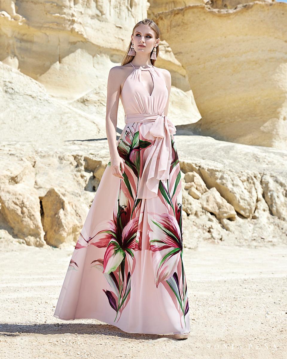 Vestito lungo. Primavera Estate 2020 Collezione Trece Lunas. Sonia Peña - Ref. 1200133