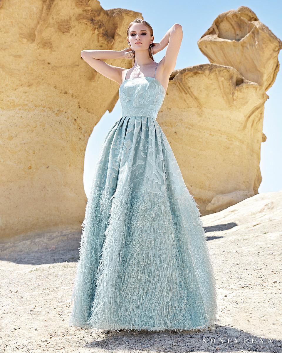 Vestito lungo. Primavera Estate 2020 Collezione Trece Lunas. Sonia Peña - Ref. 1200137