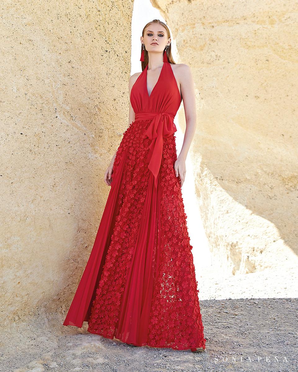 Vestito lungo. Primavera Estate 2020 Collezione Trece Lunas. Sonia Peña - Ref. 1200138