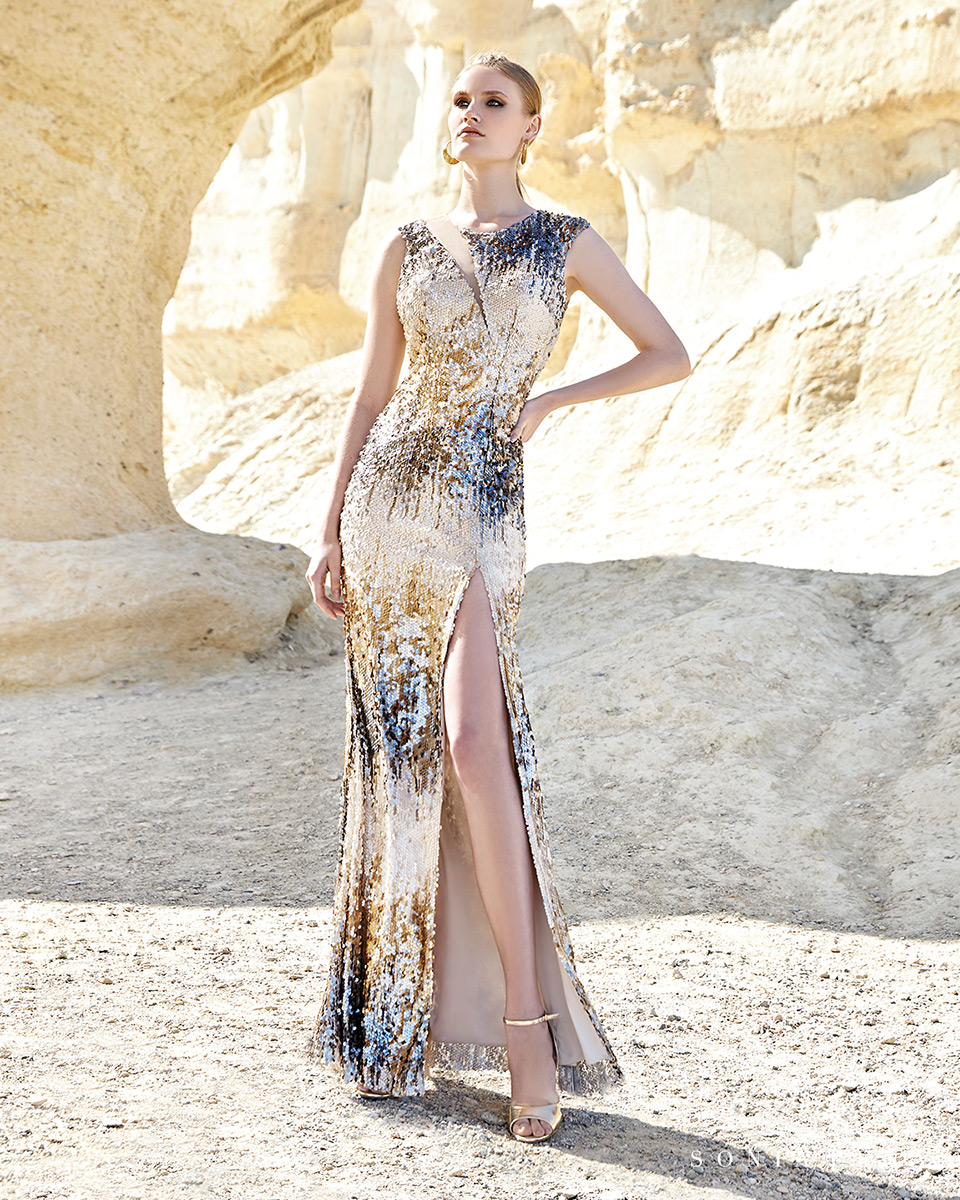 Vestito lungo. Primavera Estate 2020 Collezione Trece Lunas. Sonia Peña - Ref. 1200148