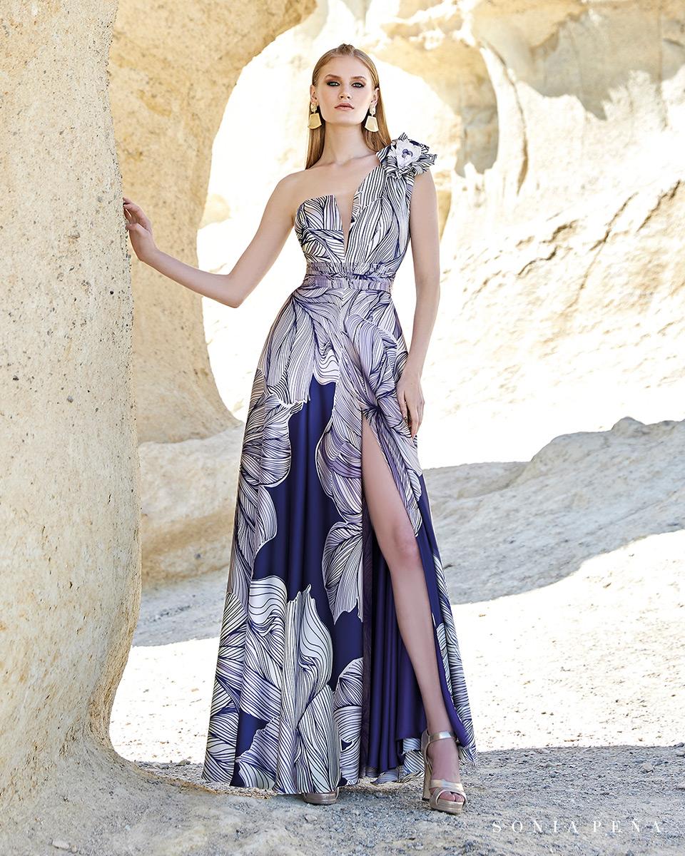 Vestito lungo. Primavera Estate 2020 Collezione Trece Lunas. Sonia Peña - Ref. 1200150