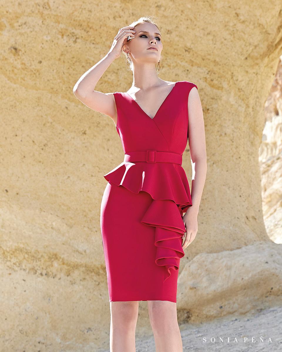 Vestito corto. Primavera Estate 2020 Collezione Trece Lunas. Sonia Peña - Ref. 1200152