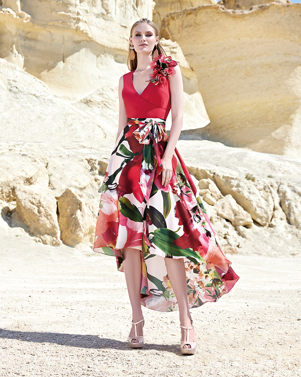 Vestito corto. Primavera Estate 2020 Collezione Trece Lunas. Sonia Peña - Ref. 1200157