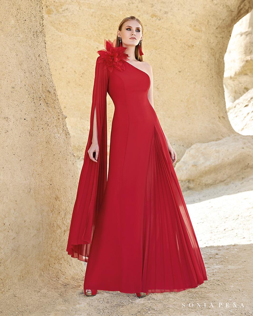 Vestito lungo. Primavera Estate 2020 Collezione Trece Lunas. Sonia Peña - Ref. 1200160