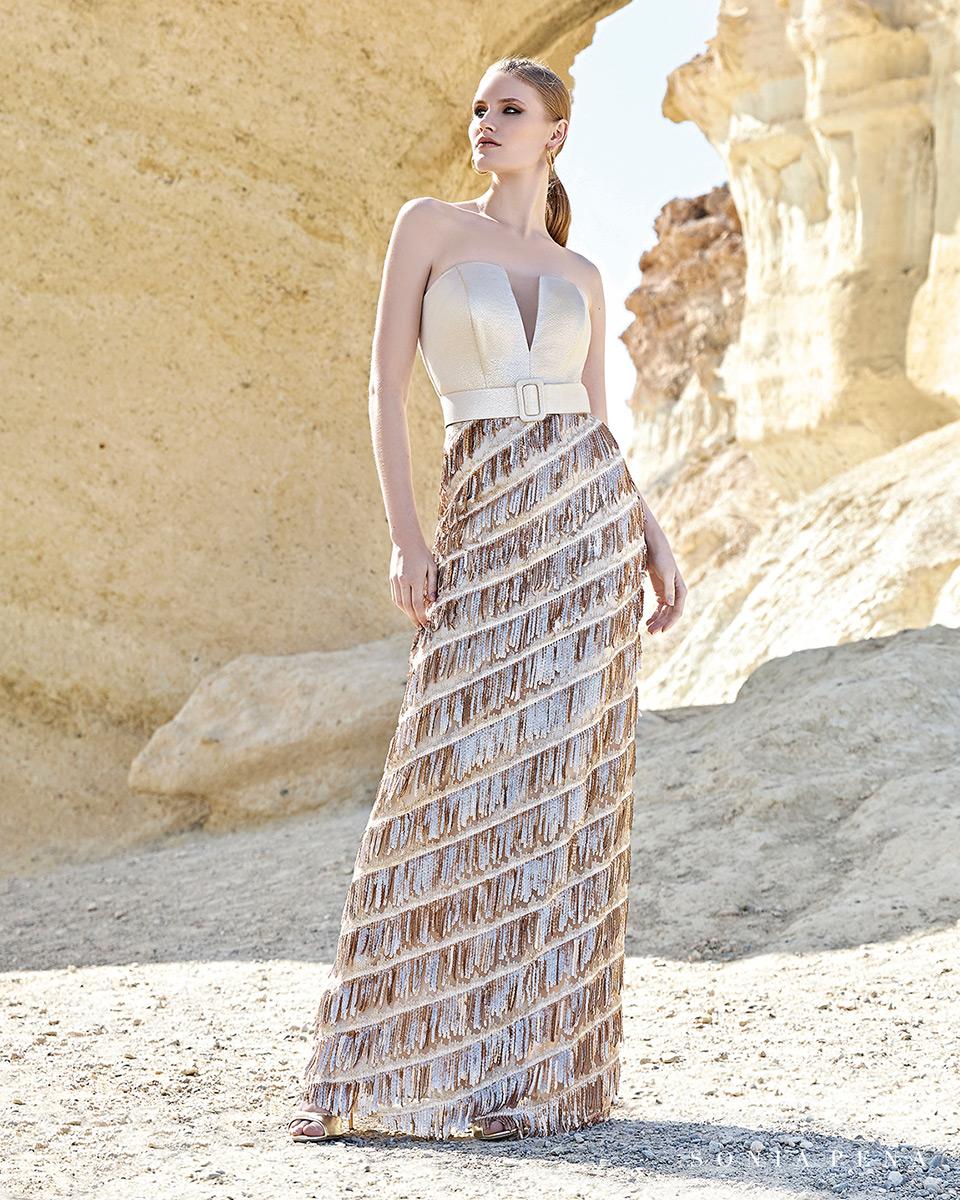 Vestito lungo. Primavera Estate 2020 Collezione Trece Lunas. Sonia Peña - Ref. 1200161