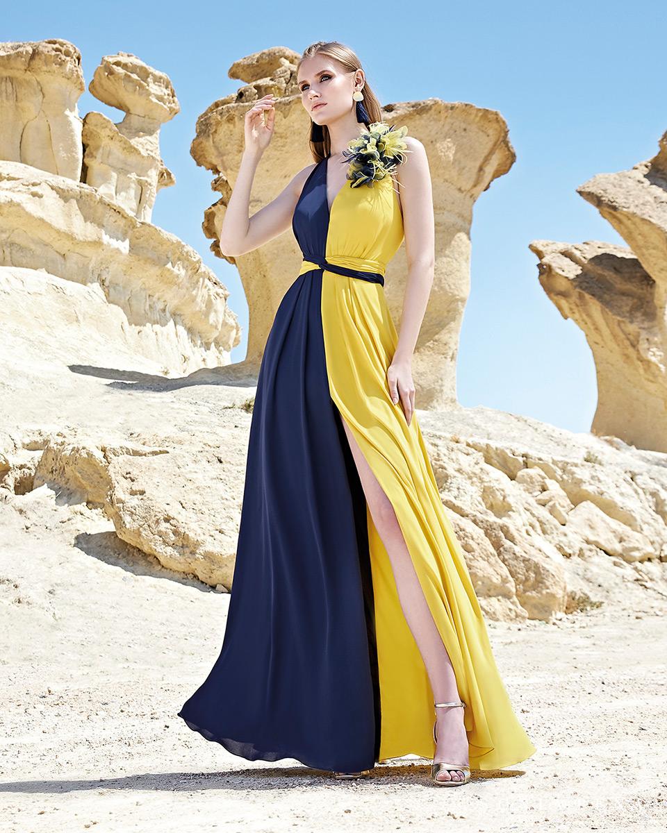 Vestito lungo. Primavera Estate 2020 Collezione Trece Lunas. Sonia Peña - Ref. 1200163